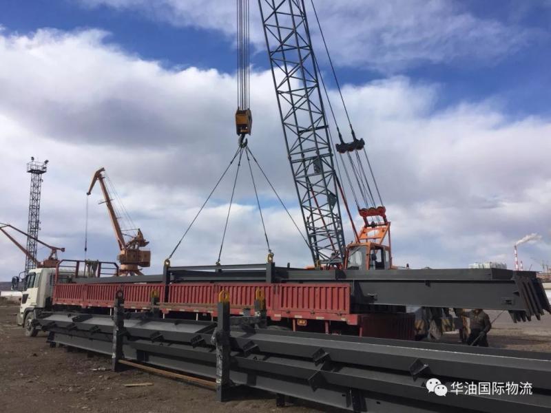 AGPP项目黑河过境运输进入溜冰期前最后抢运阶段