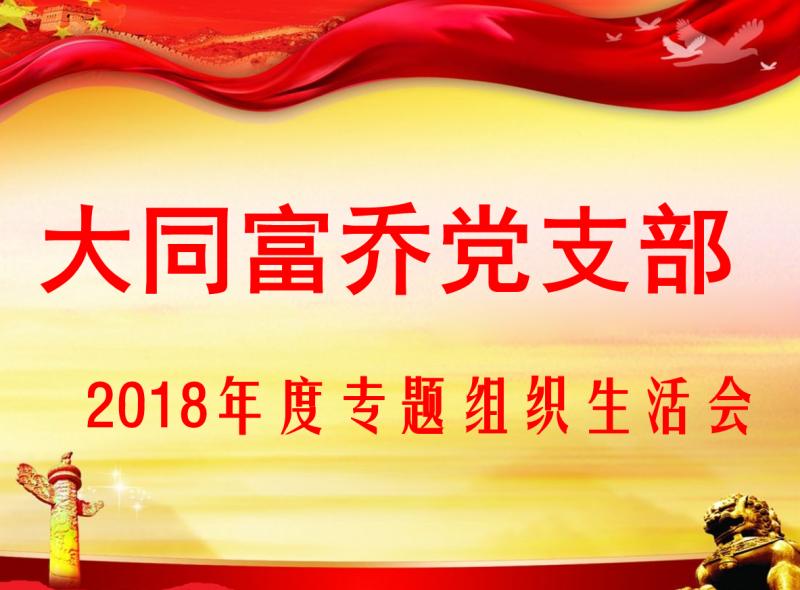大同富乔党支部 2018年度专题组织生活会