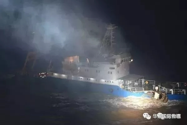 MSC旗下一艘11312TEU集装箱船在渤海撞船